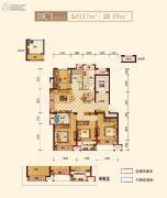 上实海上海4室2厅2卫117平方米户型图