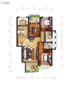 东城・中央公园3室2厅2卫0平方米户型图