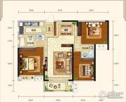 城中半岛2室2厅2卫108平方米户型图