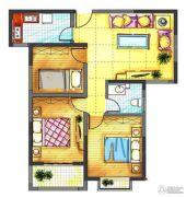 中迈王城之珠3室2厅1卫104平方米户型图