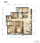长嘉汇3室2厅2卫114平方米户型图