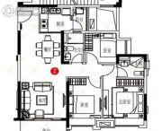 保利天汇3室2厅2卫0平方米户型图