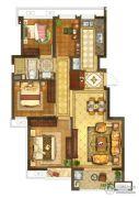 银城一方山4室2厅1卫88平方米户型图