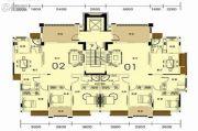 香槟公馆4室2厅2卫154--163平方米户型图