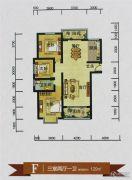 鑫源尚城3室2厅1卫129平方米户型图