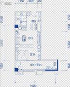 鑫天偶寓1室2厅1卫0平方米户型图