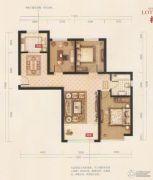 禧福 荷堂3室2厅1卫101平方米户型图