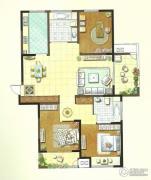 聚湖雅苑3室2厅2卫131平方米户型图