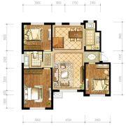 苏宁绿谷庄园3室2厅2卫126--127平方米户型图