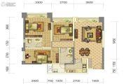中铁骑士府邸3室2厅2卫96平方米户型图
