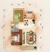 中体奥林匹克花园2室2厅1卫0平方米户型图