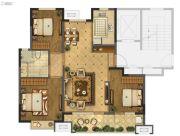 海信珠山小镇3室2厅1卫105平方米户型图