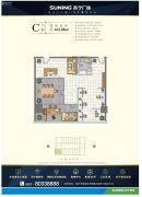 苏宁广场163平方米户型图