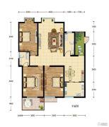 华建新城3室2厅2卫137平方米户型图