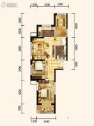 城关江南明珠2室2厅1卫104平方米户型图