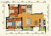 绿地国际花都3室2厅2卫97平方米户型图