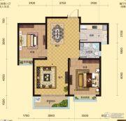 盛邦大都会2室2厅1卫96平方米户型图