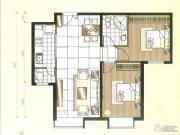 北京华贸城2室2厅1卫80--85平方米户型图