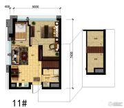 国瑞中心中央公馆0室0厅0卫53平方米户型图