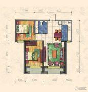 力旺康城2室1厅1卫74平方米户型图