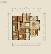 财富中心4室2厅3卫253平方米户型图