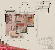 融汇半岛玫瑰公馆2室2厅1卫75平方米户型图