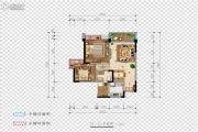 希望・玫瑰园2室2厅1卫76平方米户型图