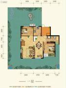 康田紫悦府4室2厅3卫121平方米户型图