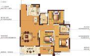 塞纳国际3室2厅2卫123平方米户型图