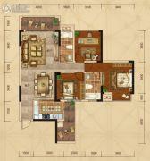 广汇・圣湖城3室2厅2卫111平方米户型图