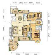 五岭国际4室2厅3卫260平方米户型图