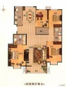 紫金新干线4室2厅2卫157平方米户型图