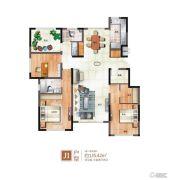 绿地泰晤士新城3室2厅2卫135平方米户型图