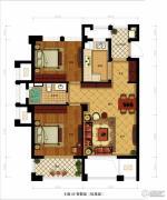 金都夏宫2室2厅1卫85平方米户型图
