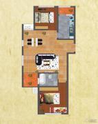 友谊嘉御龙庭2室2厅1卫95--97平方米户型图