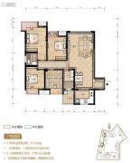 置地城4室2厅2卫105平方米户型图
