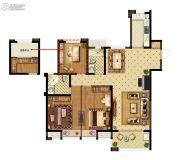 美的城三街区3室2厅2卫125平方米户型图