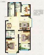 海信东山郡3室2厅2卫117平方米户型图