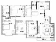 新星宇和源4室2厅2卫160平方米户型图