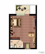 晶彩中心1室0厅1卫33平方米户型图