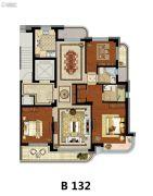 方远天韵水岸3室2厅2卫132平方米户型图