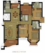 名城国际3室2厅3卫178平方米户型图