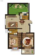 天广・清华苑2室2厅1卫0平方米户型图