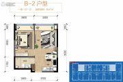 保利锦江里1室1厅1卫47平方米户型图
