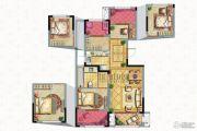 保亿风景御园3室2厅1卫88平方米户型图