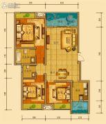 金鸿城三期归谷3室2厅2卫107平方米户型图