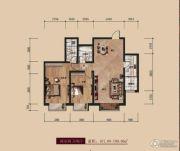 中广宜景湾・尚城2室2厅2卫101--109平方米户型图