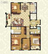 福临广场4室2厅2卫191平方米户型图