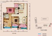 中央首座3期银座3室2厅2卫128平方米户型图