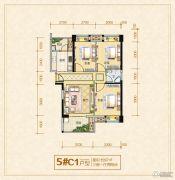 龙泉绿苑3室1厅1卫0平方米户型图